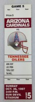 1997 NFL Tennessee Oilers at AZ Cardinals