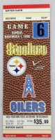 1998 Tennessee Oilers at Steelers