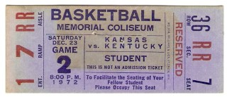 1972 NCAAMB Kansas at Kentucky