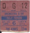1974 Kinks Felt Forum NYC