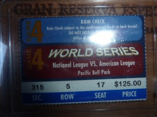 World Series game 4 stub