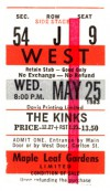 1983 Kinks Maple Leaf Gardens Toronto