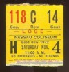 1972 Minor League Hockey ticket stub