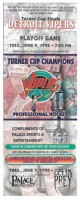 1998 IHL Playoffs Detroit Vipers unused ticket vs Chicago Wolves