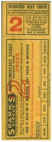 1946 Sparks Circus ticket stub