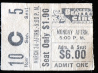 Clyde Beatty Circus stub