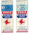 1975 World Series Games 6 and 7 ticket stubs Reds at Red Sox