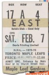 1976 Bruins at Maple Leafs Sittler 10 pts