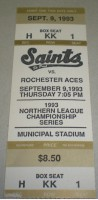 1993 MiLB Rochester Aces at Fighting Saints