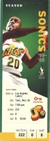 1999 NBA Lakers at Supersonics