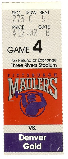 Pittsburgh Maulers vs. Denver Gold stub