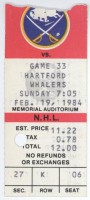1984 Whalers at Sabres