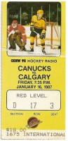 1987 Flames at Canucks