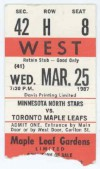 1987 NHL North Stars at Maple Leafs