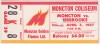 1987 AHL Moncton Golden Flames ticket stub vs Sherbrooke