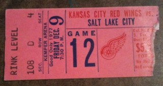 1977 Kansas City Red Wings ticket stub vs Salt Lake Golden Eagles