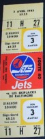 1982 AHL Sherbrooke Jets ticket stub vs Baltimore