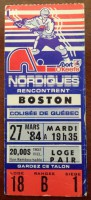 1984 NHL Boston Bruins at Quebec Nordiques