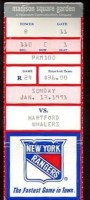 1991 Hartford Whalers at New York Rangers