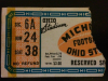 1942 NCAAF Michigan at Ohio State ticket stub