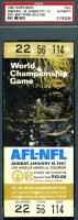 1967 Super Bowl Packers vs Chiefs full ticket