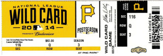 2014 NL Wild Card Giants at Pirates ticket stub