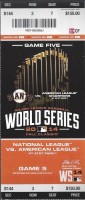 2014 World Series Game 5 ticket Royals at Giants