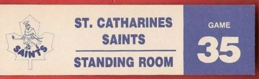 AHL St. Catharines Saints Standing Room Only ticket