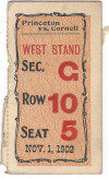 1902 NCAAF Princeton vs Cornell ticket stub
