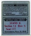 1919 Indianapolis 500 ticket stub