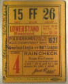 1921 World Series Game 4 Ticket Stub Yankees at Giants