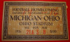 1926 NCAAF Michigan at Ohio State ticket stub