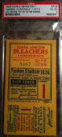 1926 World Series Game 1 Ticket Stub Cardinals at Yankees