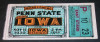 1930 NCAAF Penn State at Iowa ticket stub
