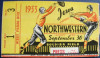 1933 NCAAF Iowa at Northwestern ticket stub