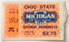 1935 NCAAF Ohio State at Michigan ticket stub