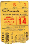 1942 NHL Montreal Canadiens at Brooklyn Americans ticket stub