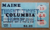 1942 NCAAF Maine at Columbia ticket stub