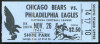1944 Bears at Eagles ticket stub