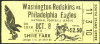 1944 Redskins at Eagles ticket stub