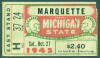 1945 NCAAF Marquette at Michigan State ticket stub