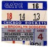 1947 AAFC Dodgers at Rockets ticket stub