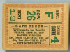 1947 NCAAF Willamette at Pacific ticket stub