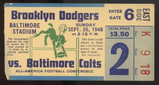 1948 AAFC Brooklyn Dodgers at Baltimore Colts 53