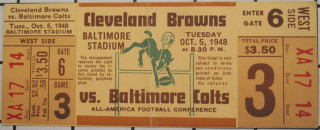 1948 Browns at Colts ticket stub