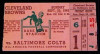 1949 AAFC Browns at Colts ticket stub
