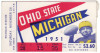 1951 NCAAF Ohio State at Michigan ticket stub