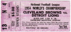 1954 NFL Championship ticket stub Lions at Browns