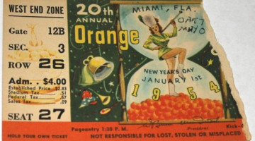 1954 Orange Bowl Oklahoma vs Maryland ticket stub 10