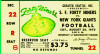 1955 49ers vs Giants at Seattle ticket stub